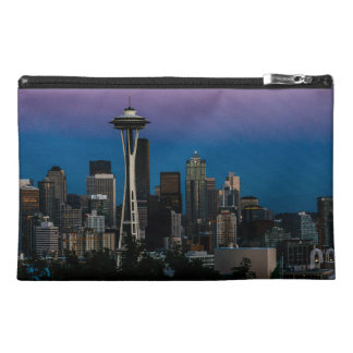 Seattle Architecture Under the Purple Sky Travel Accessory Bag