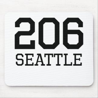 Seattle Area Code 206 Mousepad
