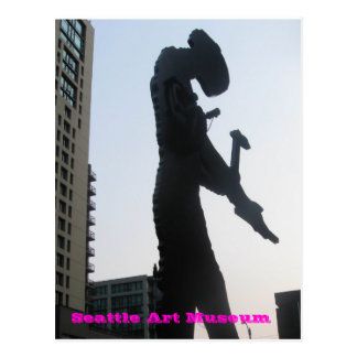 Seattle Art Museum - Hammering Man Post Card