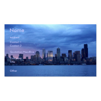 Seattle At Dusk Business Card Templates