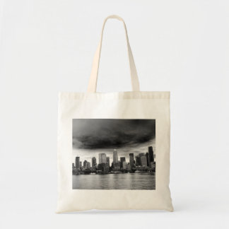 Seattle blanco y negro bolsa tela barata