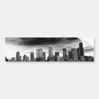 Seattle blanco y negro pegatina de parachoque