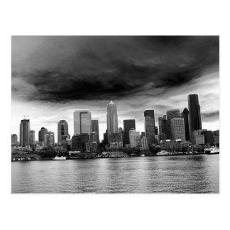 Seattle blanco y negro postales