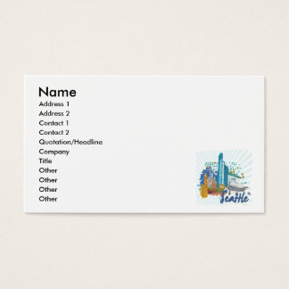Seattle city business cards templates zazzle seattle business card colourmoves
