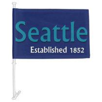 Seattle Car Flag