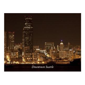 Seattle céntrica en la postal de la noche
