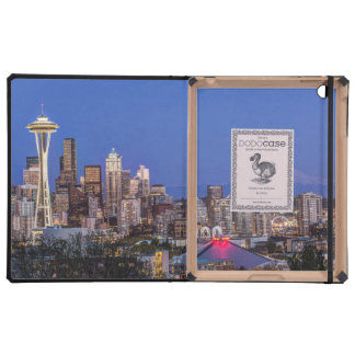 Seattle, centro de la ciudad y el Monte Rainier en iPad Cobertura