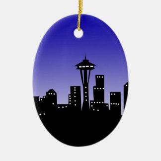 Seattle Ceramic Ornament