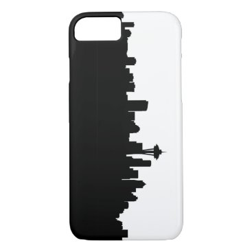 USA Themed seattle city cityscape black silhouette america us iPhone 8/7 case