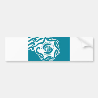 seattle city flag united state america Washington Bumper Sticker