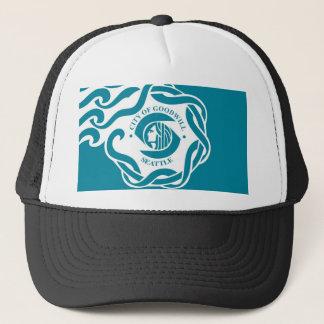 seattle city flag united state america Washington Trucker Hat