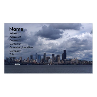 Seattle City Scape Business Card Template