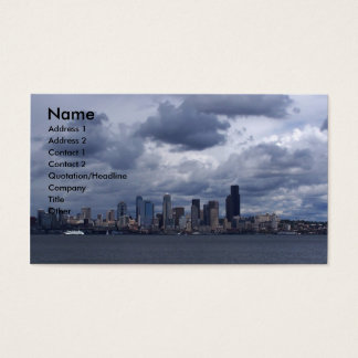 Seattle City Scape Business Card
