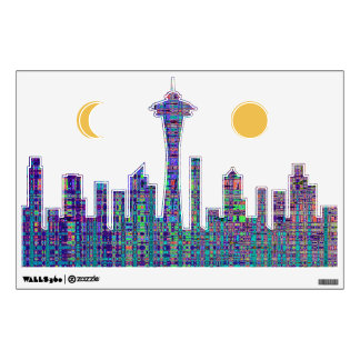 Seattle City Scape Wall Decal