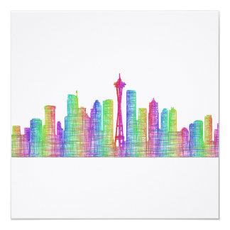 Seattle city skyline card