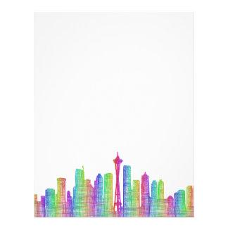 Seattle city skyline letterhead