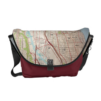 Seattle City Topographic Map Courier Bag