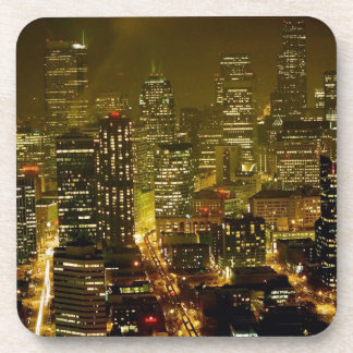 Seattle city view drink coaster