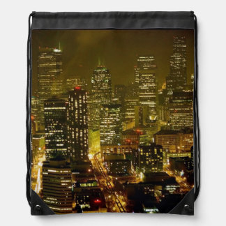 Seattle city view drawstring bag