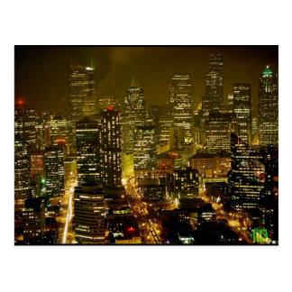 Seattle city view postcard