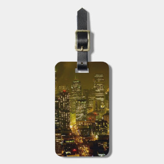 Seattle city view tag for luggage