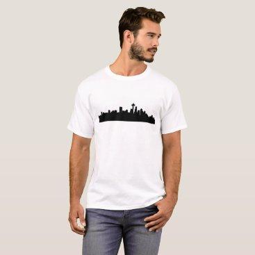 USA Themed seattle cityscape T-Shirt