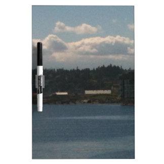 Seattle Clouds Dry Erase Board