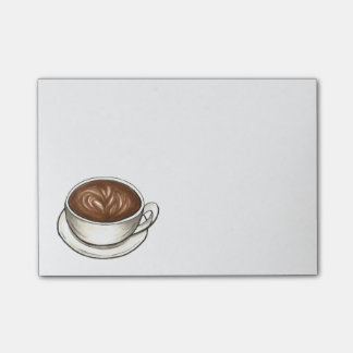 Seattle Coffee Cup Latte Post It Notes
