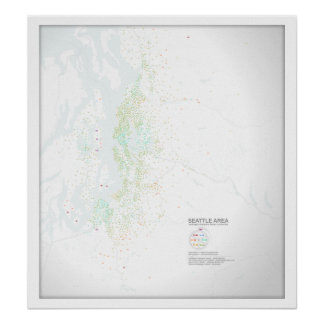 Seattle Commutes: Commute Times Poster