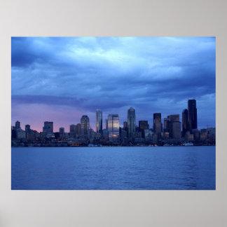 Seattle debajo de las nubes impresiones