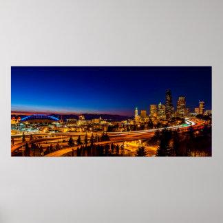 Seattle del puente de Jose Rizal Poster