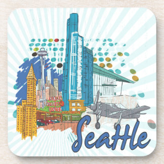 Seattle Drink Coaster