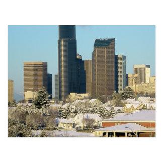 Seattle en invierno postal