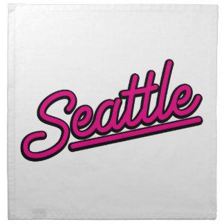 Seattle en magenta servilletas imprimidas