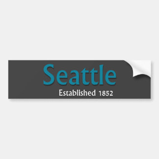 Seattle Established Vehicle Bumper Sticker