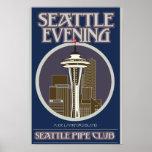 Seattle Evening Print