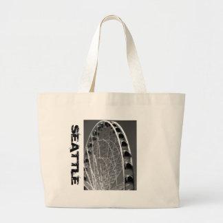 Seattle Ferris Wheel Tote Bags
