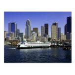 Seattle Ferry Washington State Postcard