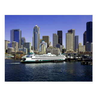Seattle Ferry Washington State Postcard