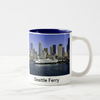 Seattle Ferry Washington State Two-Tone Coffee Mug