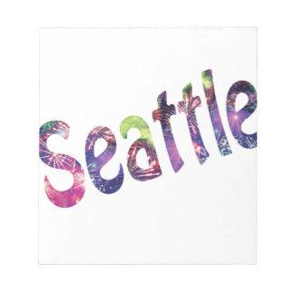 Seattle Firework Memo Pad