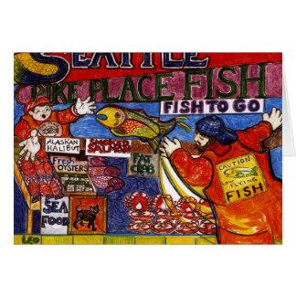 Seattle Fish Market Greeting Card