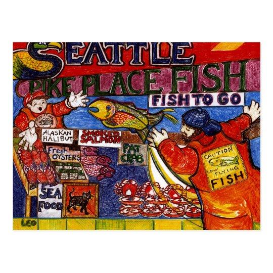 Seattle Fish Market Postcard