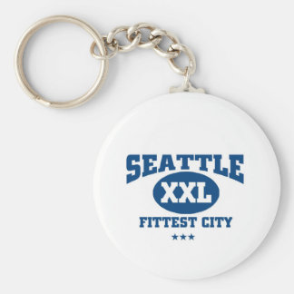 Seattle Fittest city Key Chains
