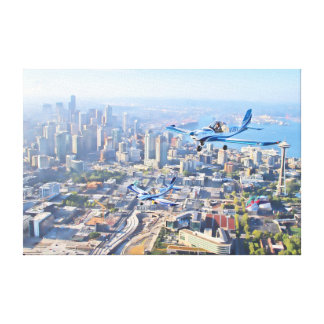 Seattle Flight of Two Canvas Print