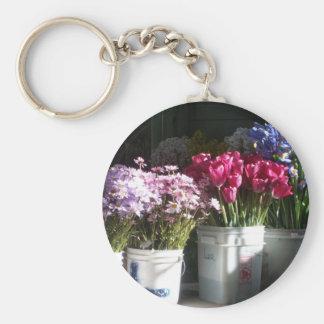 Seattle flowers photo key chain