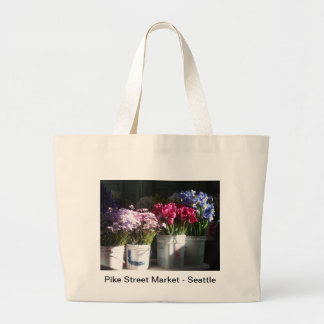 Seattle flowers photo large tote bag