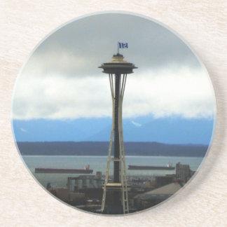 Seattle Football Fan Sandstone Drink Coasters