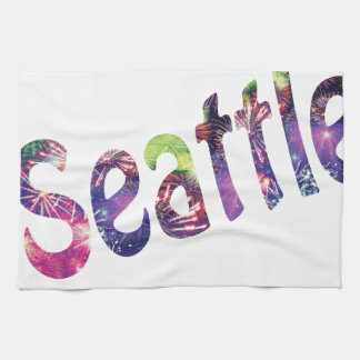 Seattle Fourth of July Hand Towel