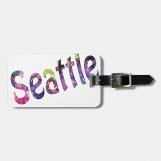 Seattle Fourth of July Tag For Luggage